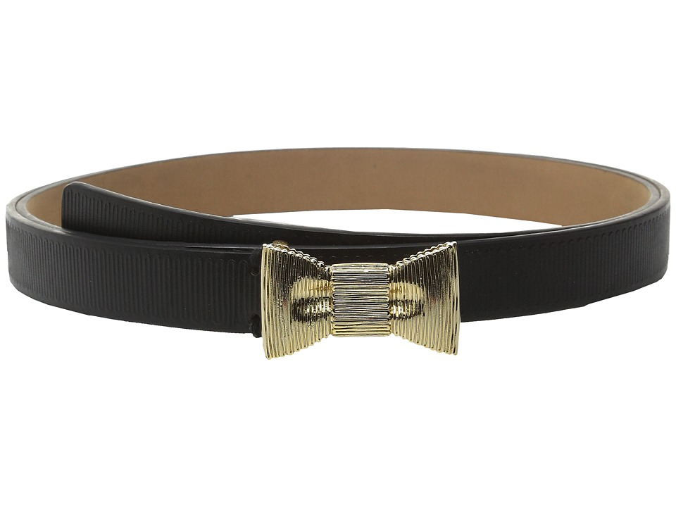 Kate Spade New York 20mm Grosgrain Belt Black/Gold Womens Belts