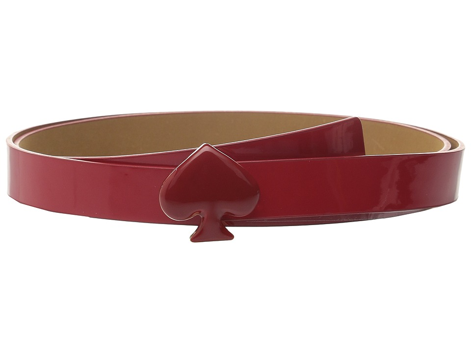 Kate Spade New York 20mm Spade Buckle Belt Posey Red Womens Belts