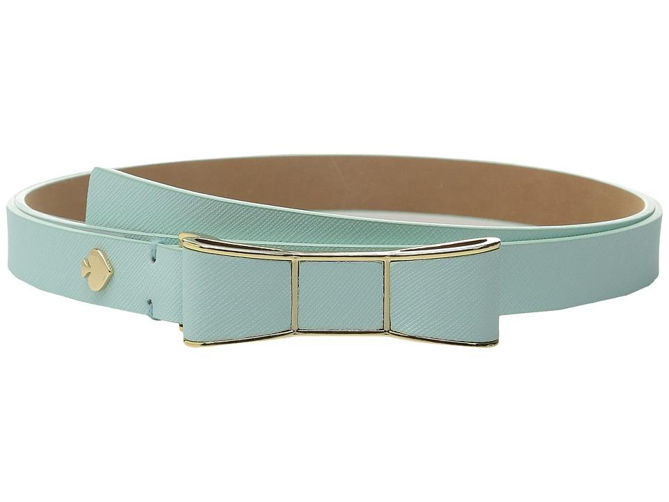 Kate Spade New York 20mm Bow Belt Fresh Mint Womens Belts