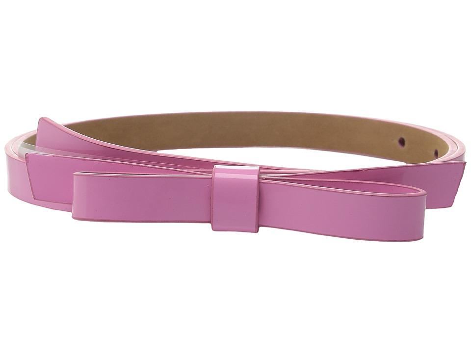 Kate Spade New York 16mm Classic Bow Belt Carousel Pink Womens Belts