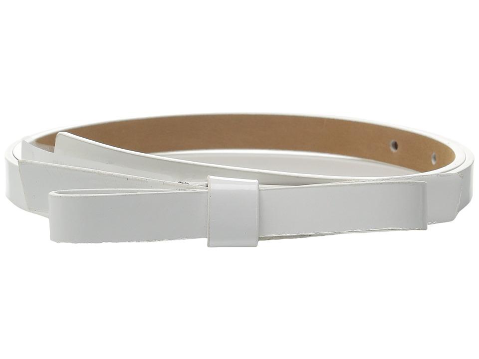 Kate Spade New York 16mm Classic Bow Belt Fresh White Womens Belts