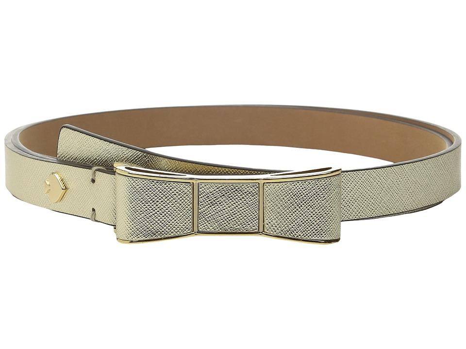 Kate Spade New York 20mm Bow Belt Gold Womens Belts