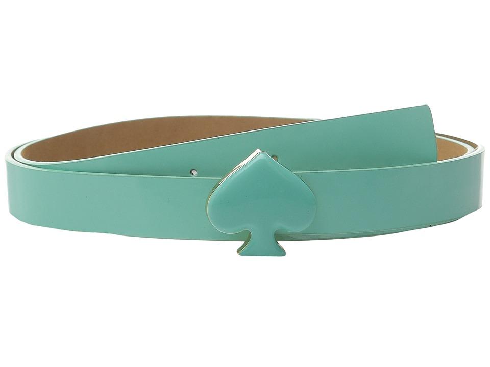 Kate Spade New York 20mm Spade Buckle Belt Fresh Mint Womens Belts