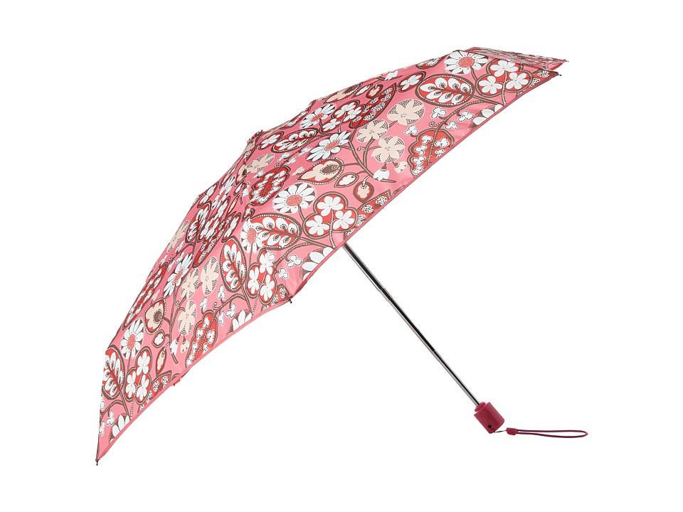 Vera Bradley Automatic Mini Umbrella Blush Pink Umbrella