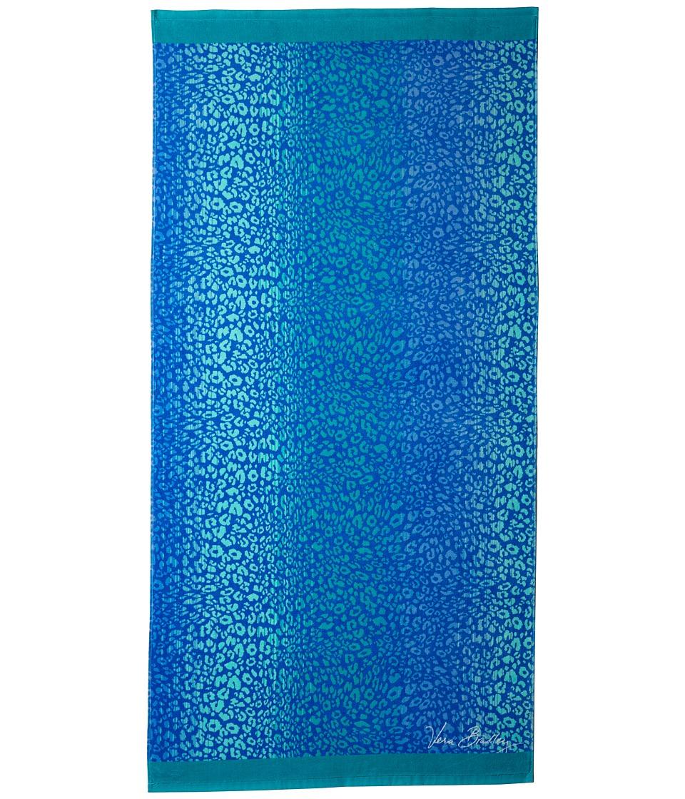 Vera Bradley Beach Towel Camocat Blue Bath Towels