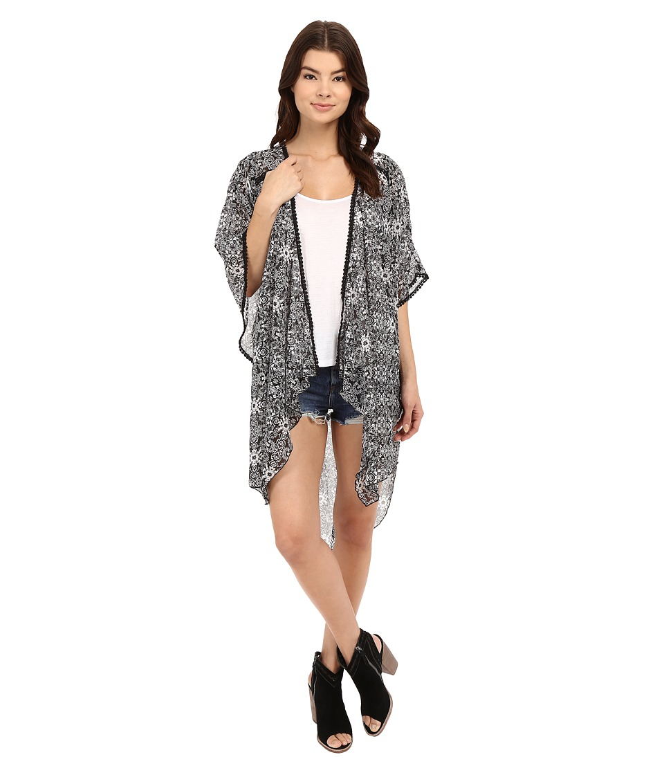 BCBGeneration Bella Kimono Black/White Womens Clothing