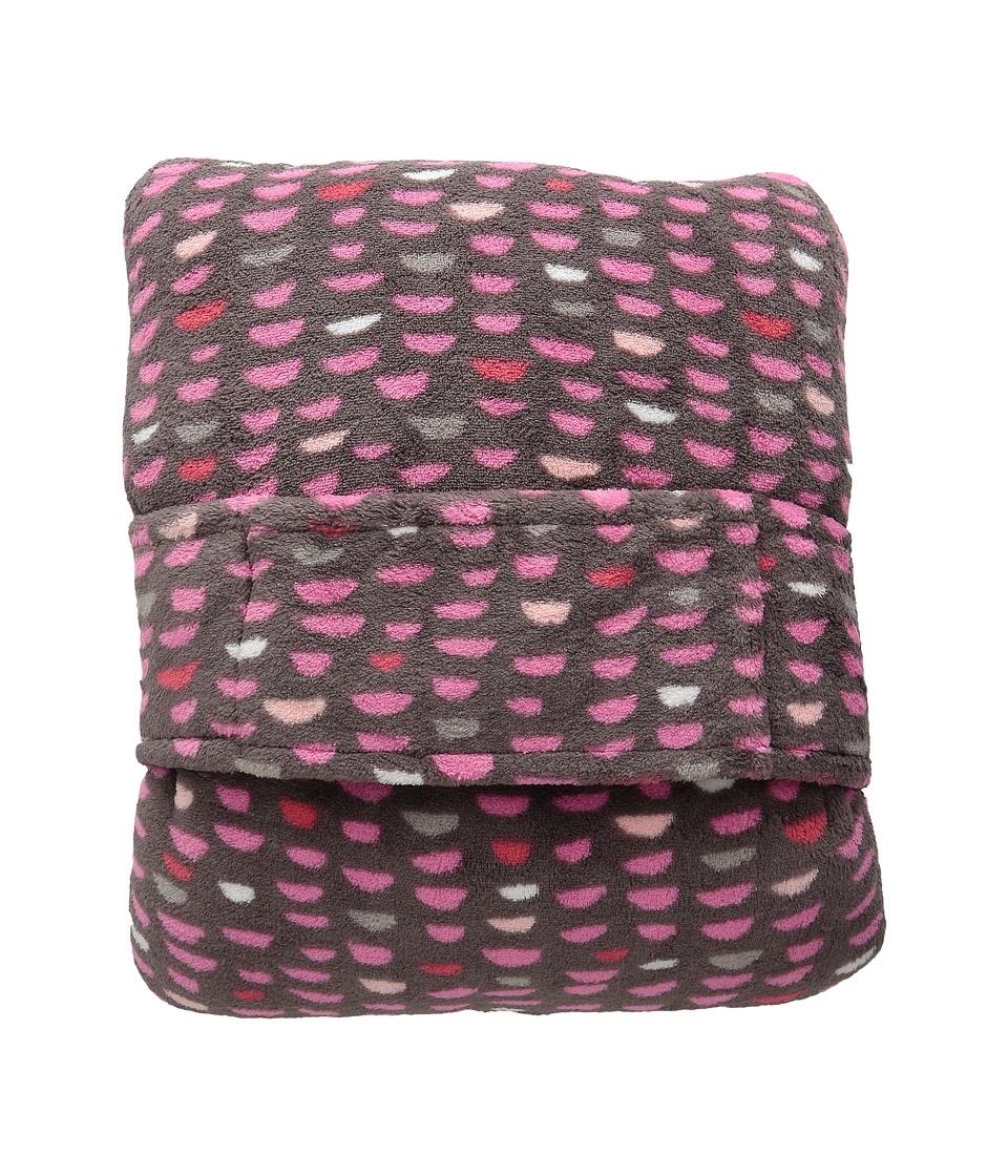 Vera Bradley - Fleece Travel Blanket (Pink Half Moons) Blankets
