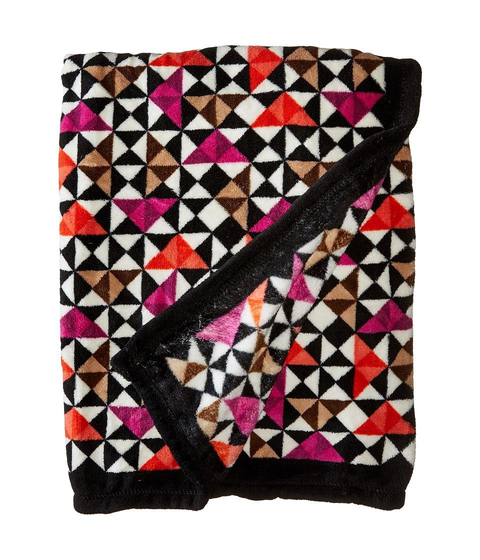Vera Bradley Fleece Travel Blanket Rosewood Chips Blankets