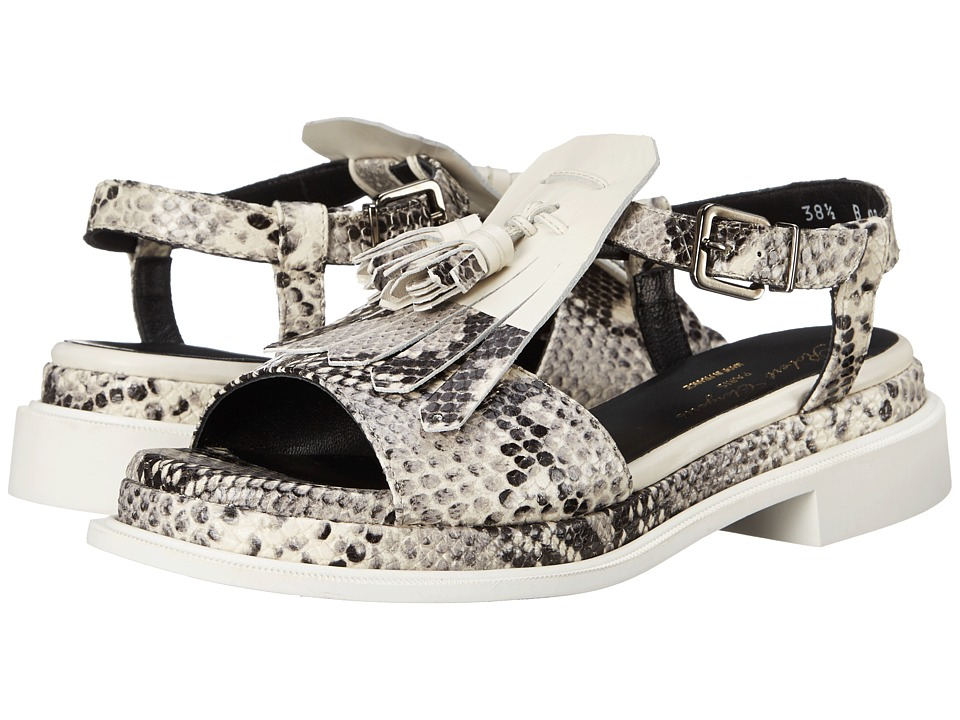 Robert Clergerie Coco Black/White Jungle Print Womens Shoes