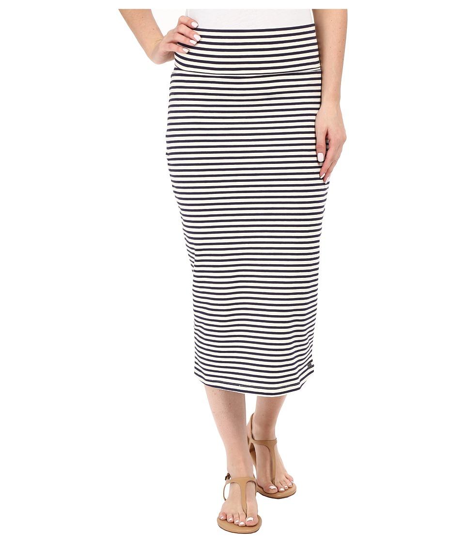 Roxy Bolsa Chica Solid Skirt Small Stripe Eclipse Womens Skirt