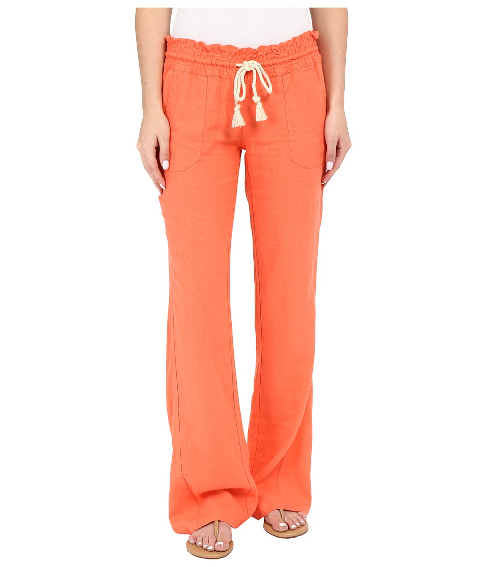 Roxy Ocean Side Pant Living Coral Womens Casual Pants