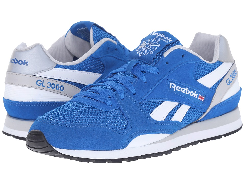 Reebok Lifestyle - GL 3000 Mesh (Blue Sport/Steel/White/Black) Men