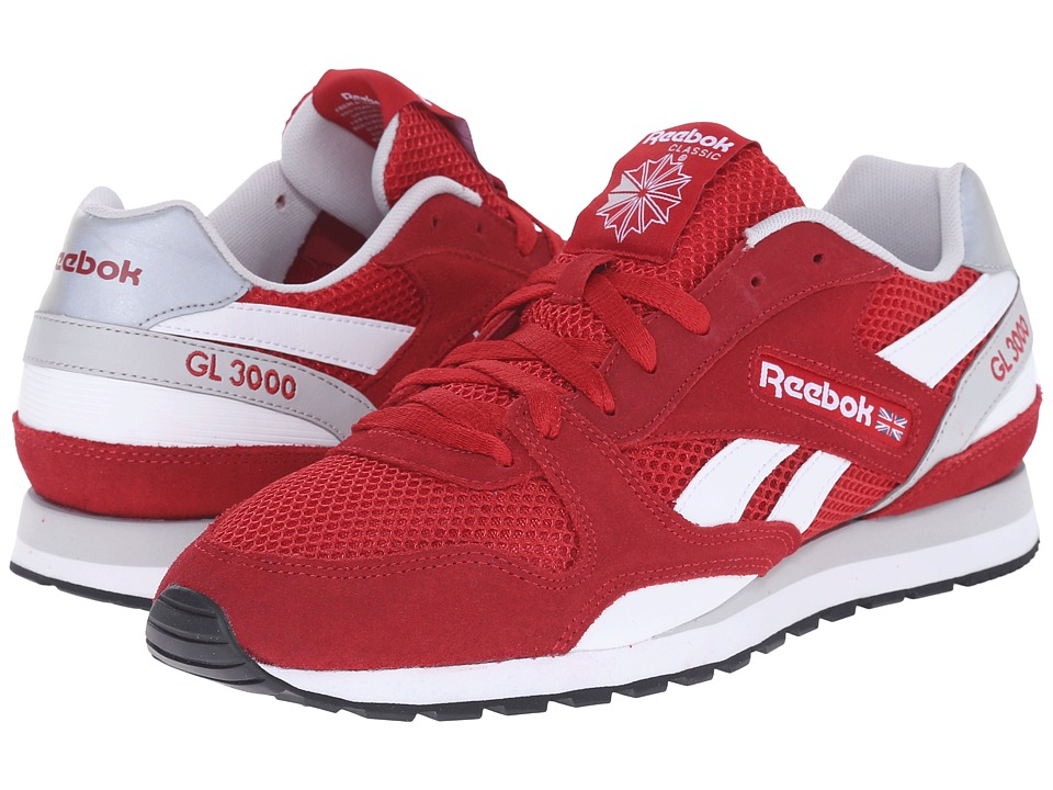 Reebok Lifestyle - GL 3000 Mesh (Flash Red/Steel/White/Black) Men