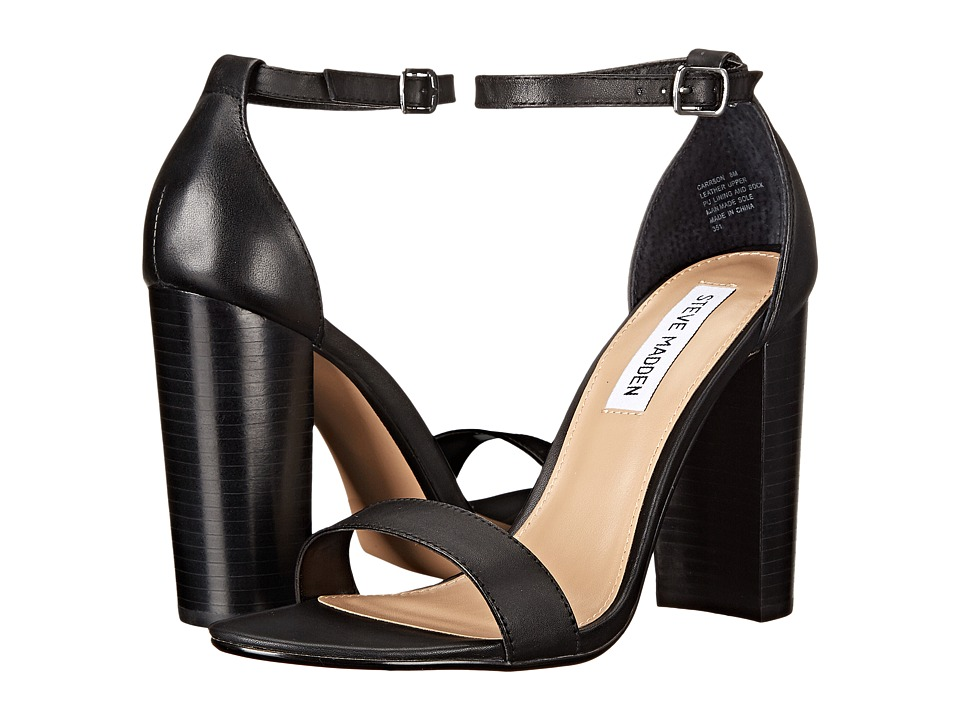 Steve Madden Carrson (Black Leather) High Heels