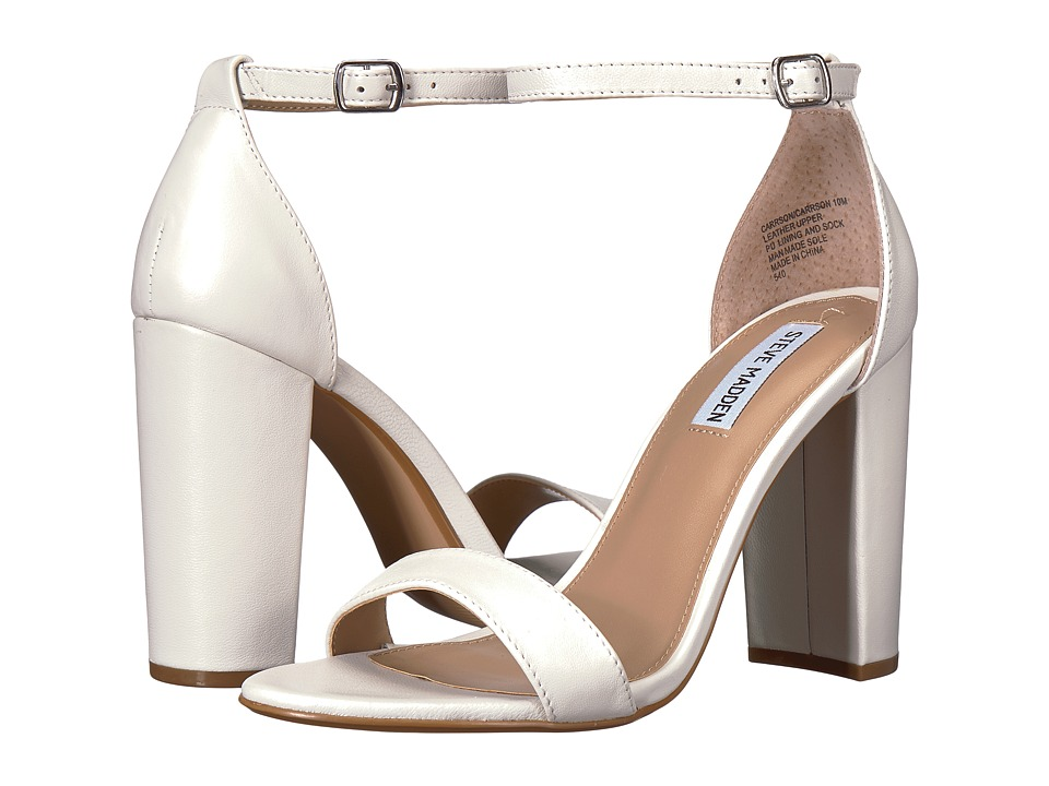 Steve Madden - Carrson (White Leather) High Heels