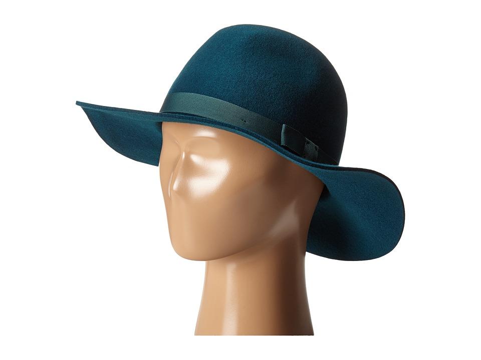 1940sStyleHats Brixton - Dalila Hat Teal Traditional Hats $42.99 AT vintagedancer.com