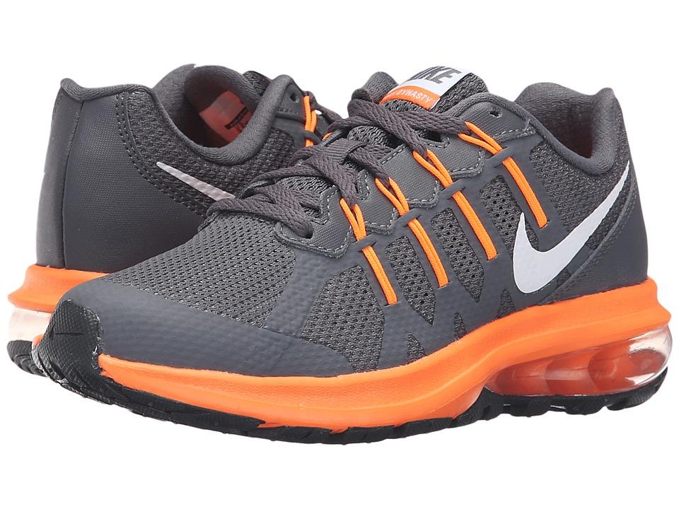 Nike Kids Air Max Dynasty Big Kid Dark Grey/White/Total Orange Boys Shoes