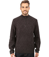 Perry Ellis - Diamond Stitch Quarter Zip Sweater