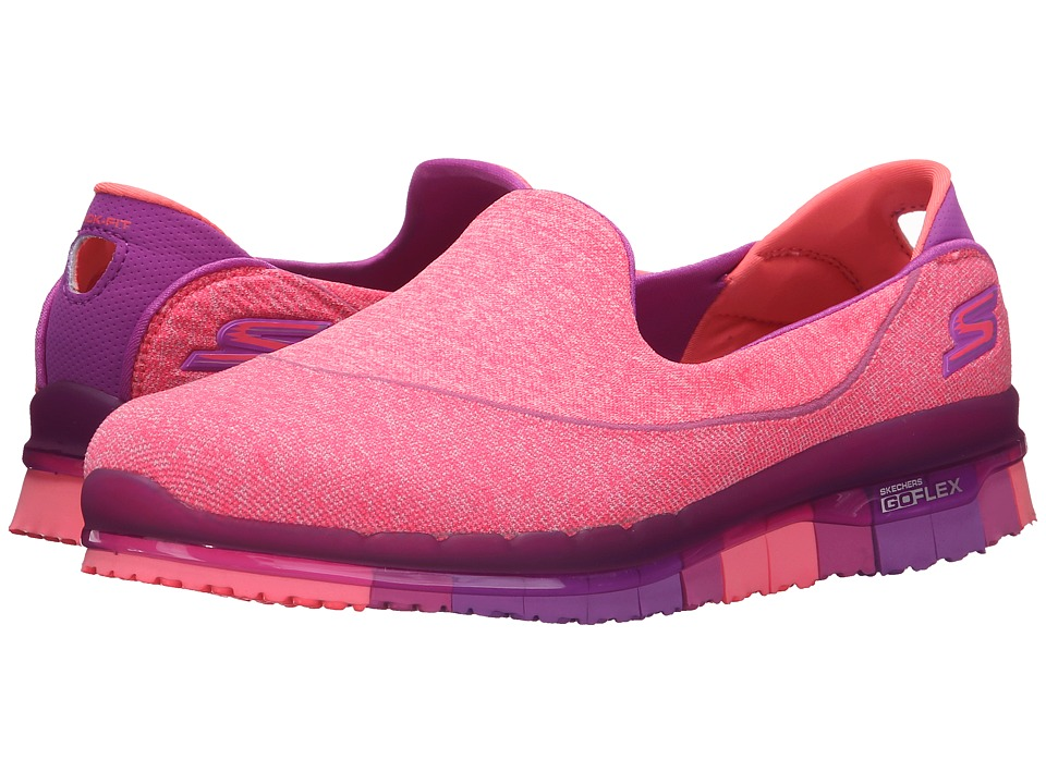 SKECHERS Performance Go Flex Stride Purple Womens Shoes
