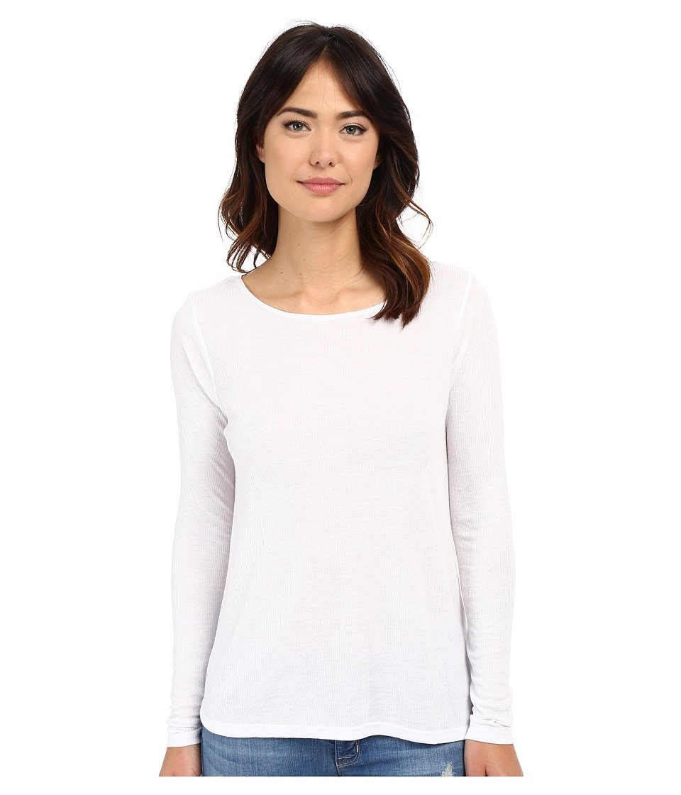 Volcom - Lived in Rib Long Sleeve Top (White) Women