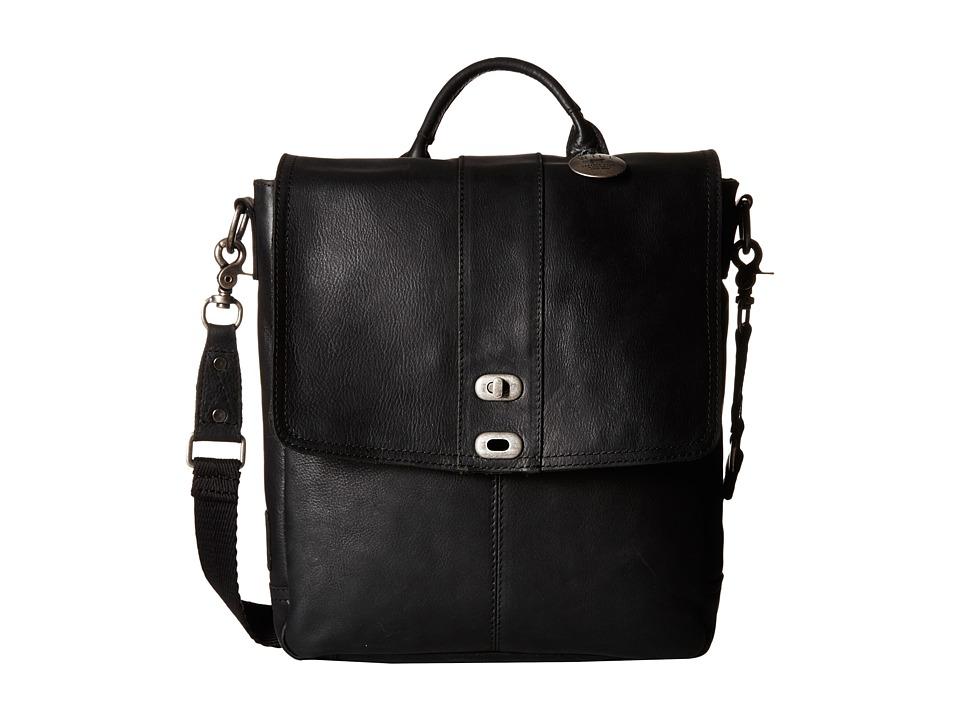 Will Leather Goods - North/South Cross body (Black) Handbags