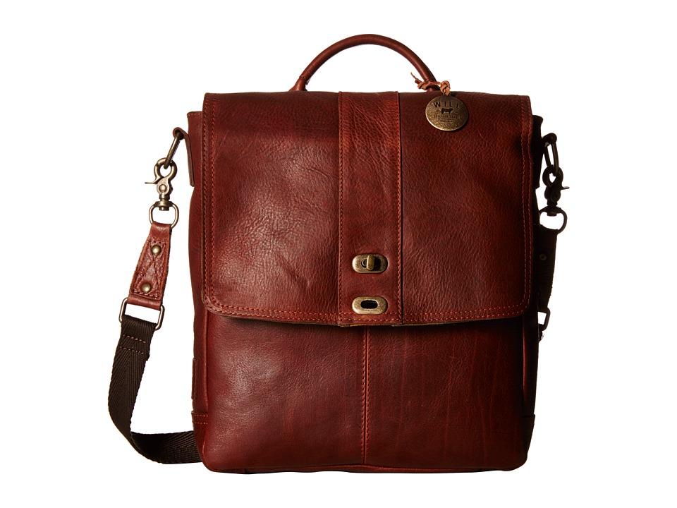 Will Leather Goods - North/South Cross body (Cognac) Handbags