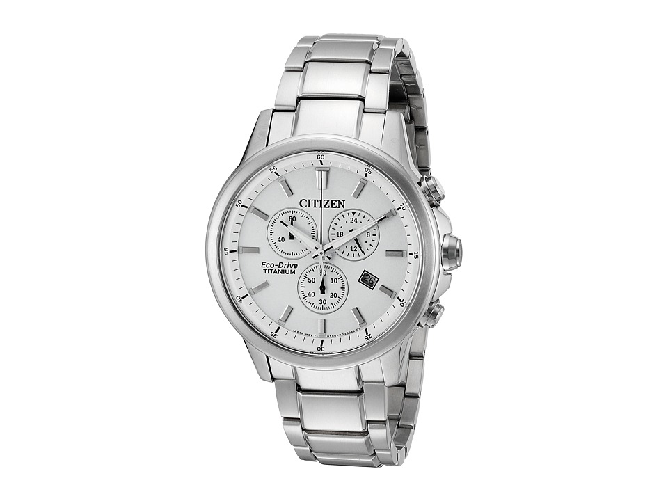 Citizen Watches AT2340 56A Eco Drive Titanium Silver Tone Watches