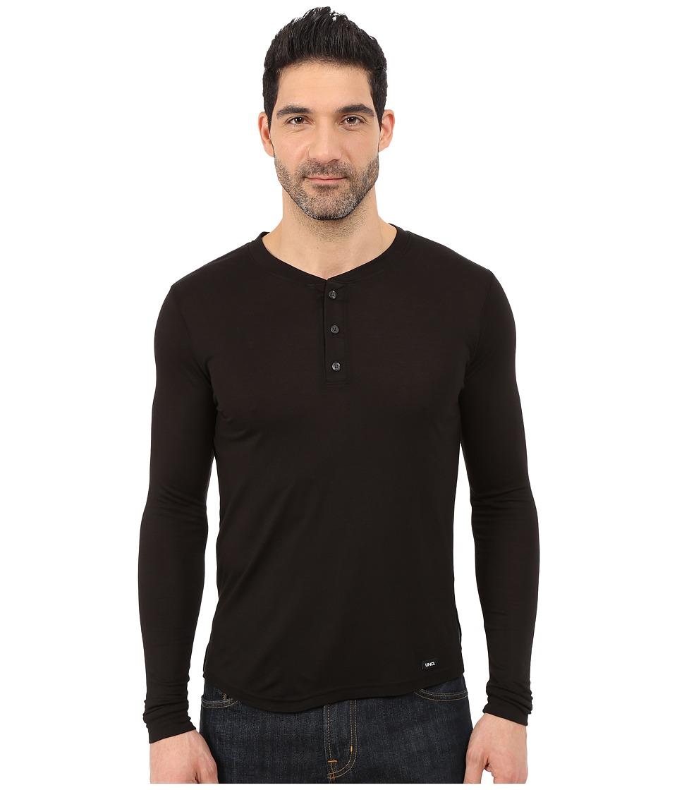 UNCL House Henley 2.0 Black Mens T Shirt