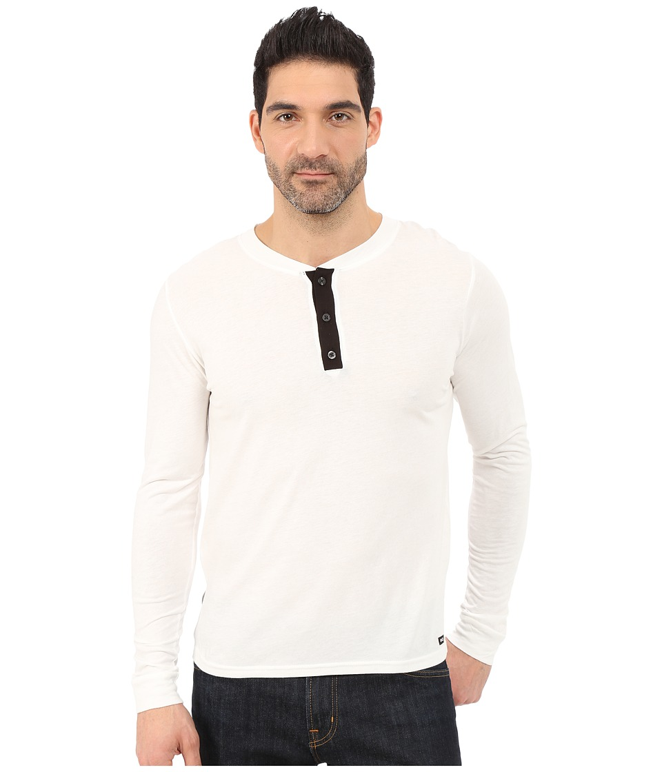 UNCL House Henley 2.0 White Mens T Shirt