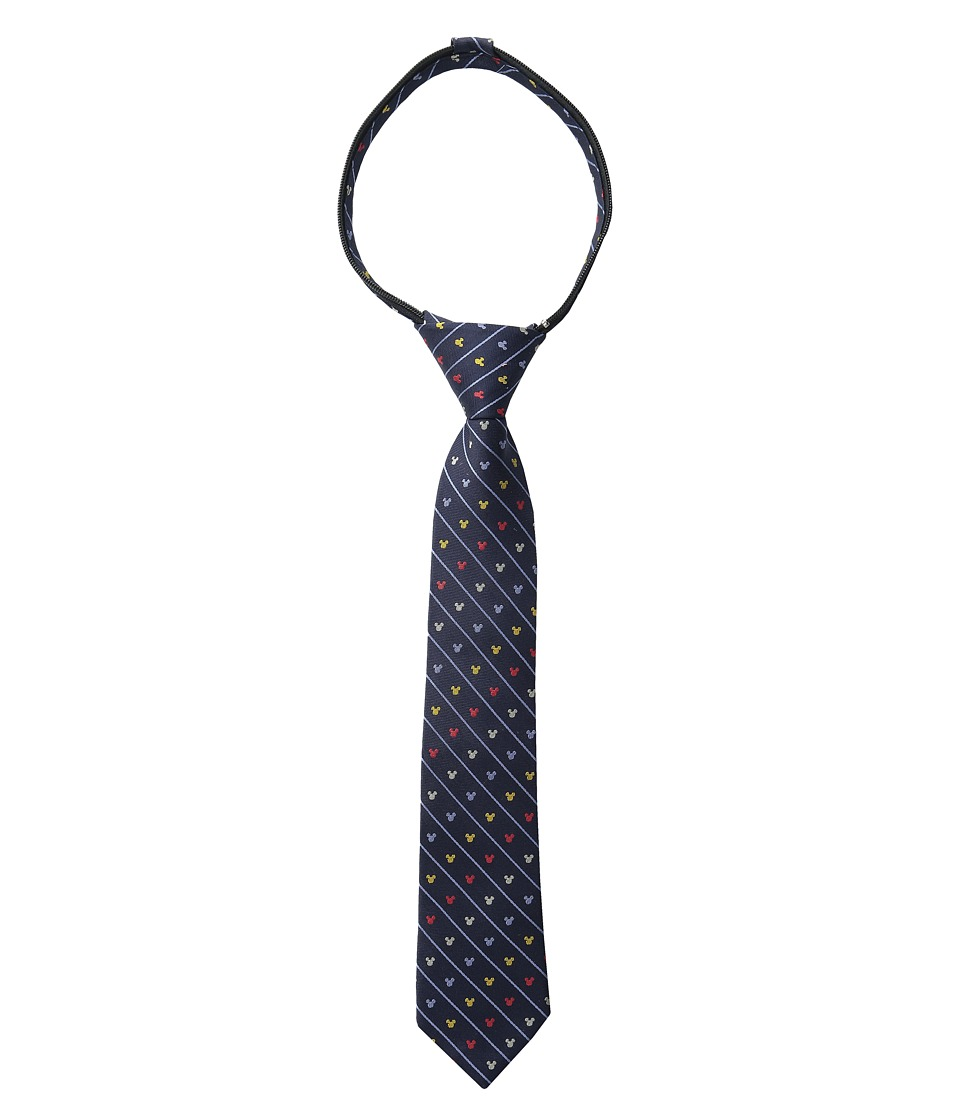 Cufflinks Inc. - Mickey Pinstripe Zipper Tie (Toddler/Little Kid/Big Kid) (Navy) Ties
