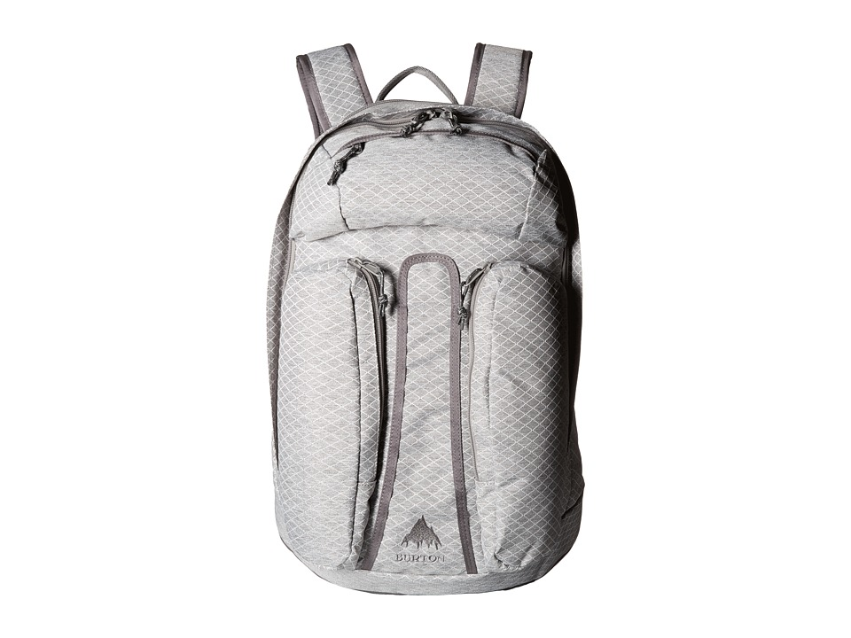Burton Curbshark Backpack Grey Heather Diamond Ripstop Backpack Bags