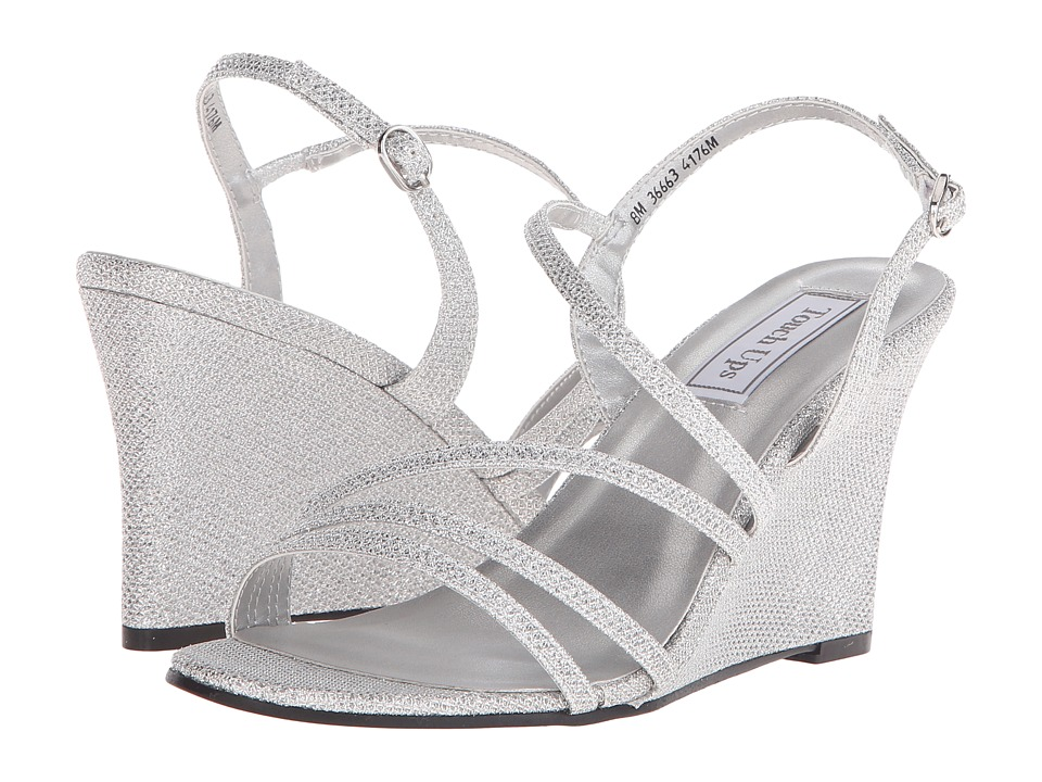 Touch Ups Paige Silver Shimmer Womens Shoes