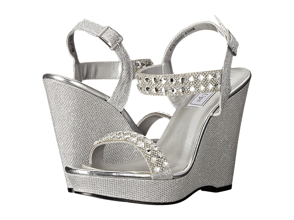 Touch Ups Brynn Silver Shimmer Womens Shoes