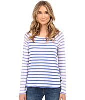 Splendid - Sunfaded Stripe Jersey Long Sleeve Tee