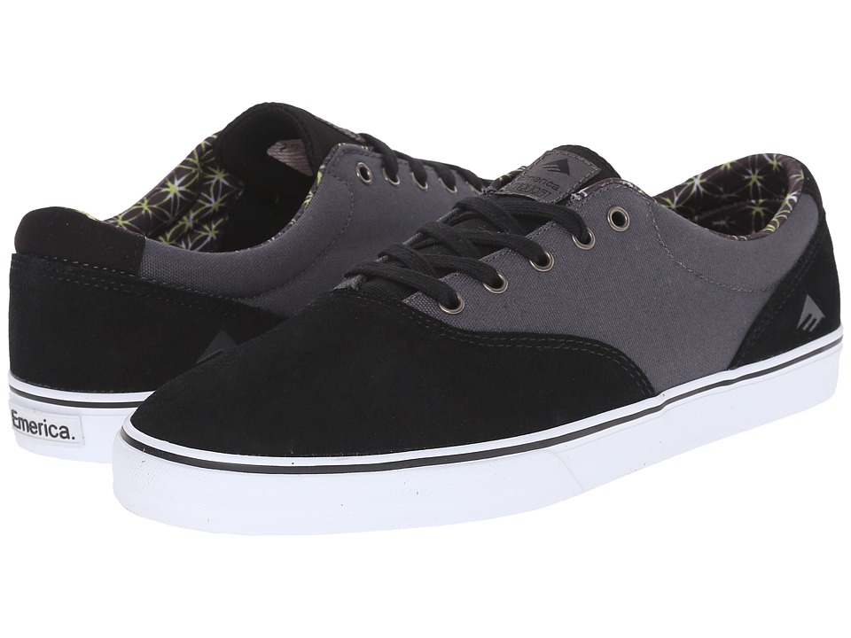 Emerica - The Provost Slim Vulc (Black/Grey/White) Men