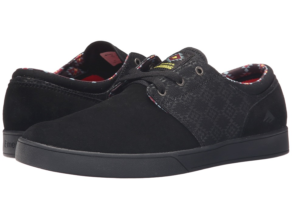 Emerica The Figueroa X Psockadelic Black/Black/Print Mens Shoes