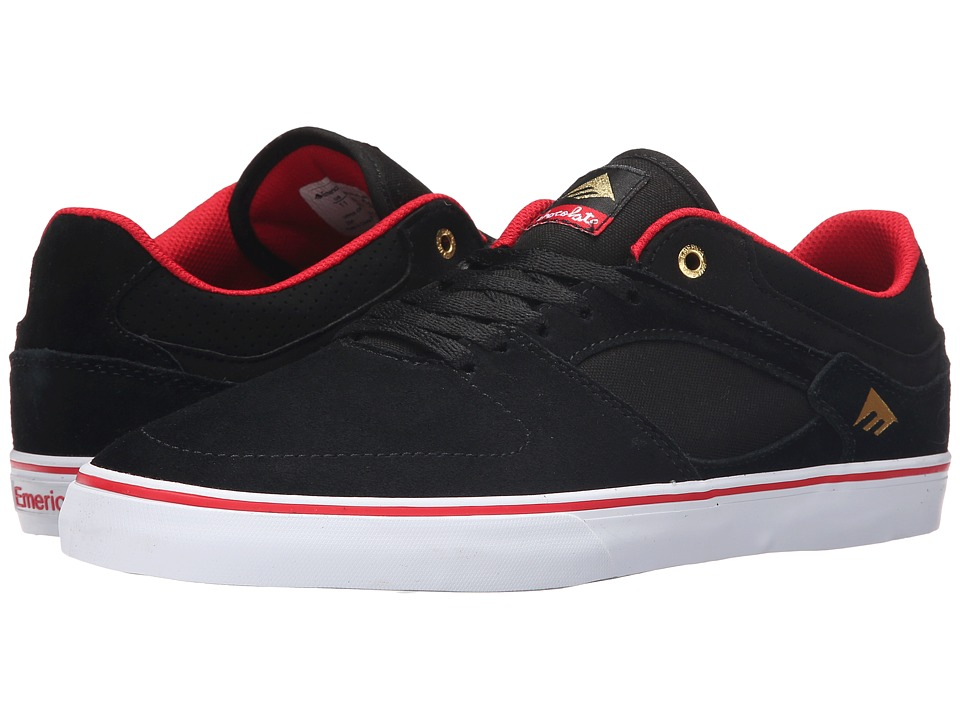 Emerica - The Hsu Low Vulc X Chocolate (Black/Red/White) Men
