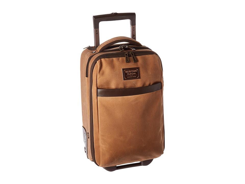 Burton - Wheelie Flyer (Beagle Brown Waxed Canvas) Carry on Luggage