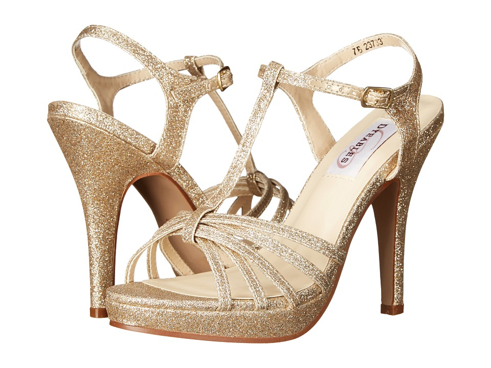 Touch Ups Kaylee Champagne Glitter Womens Shoes