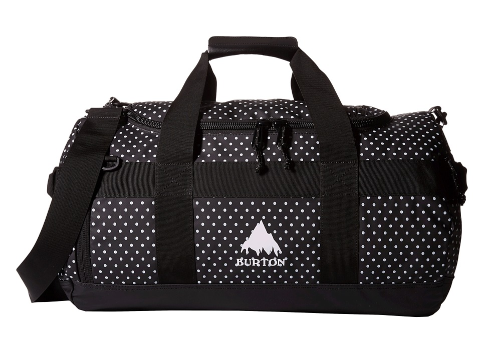 Burton Backhill Duffel Bag Small 40L Black Polka Dot Tarp Duffel Bags