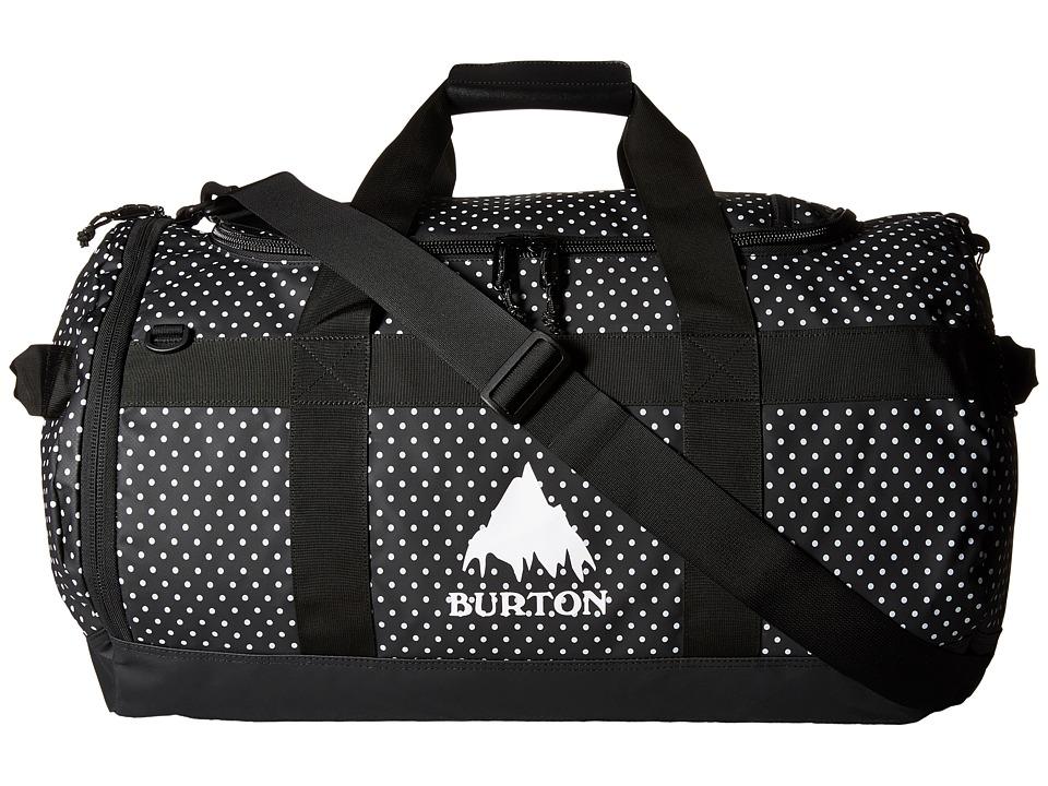 Burton Backhill Duffel M 70L Black Polka Dot Tarp Duffel Bags