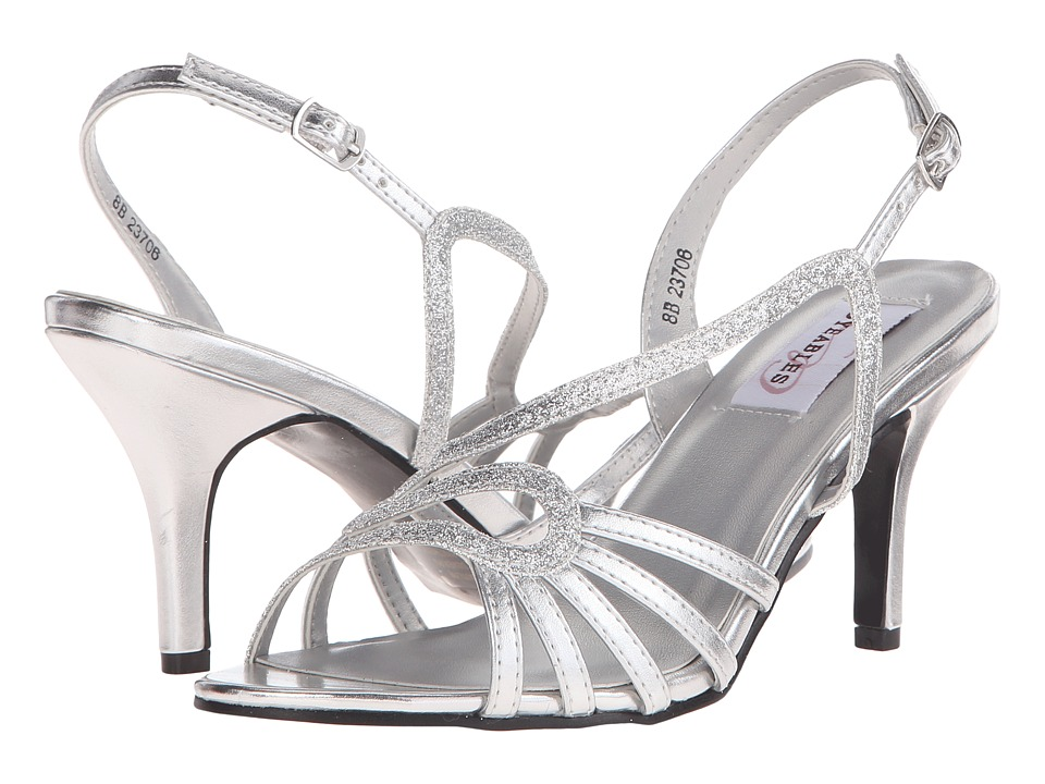 Touch Ups Caitlyn Silver Glitter Womens Shoes