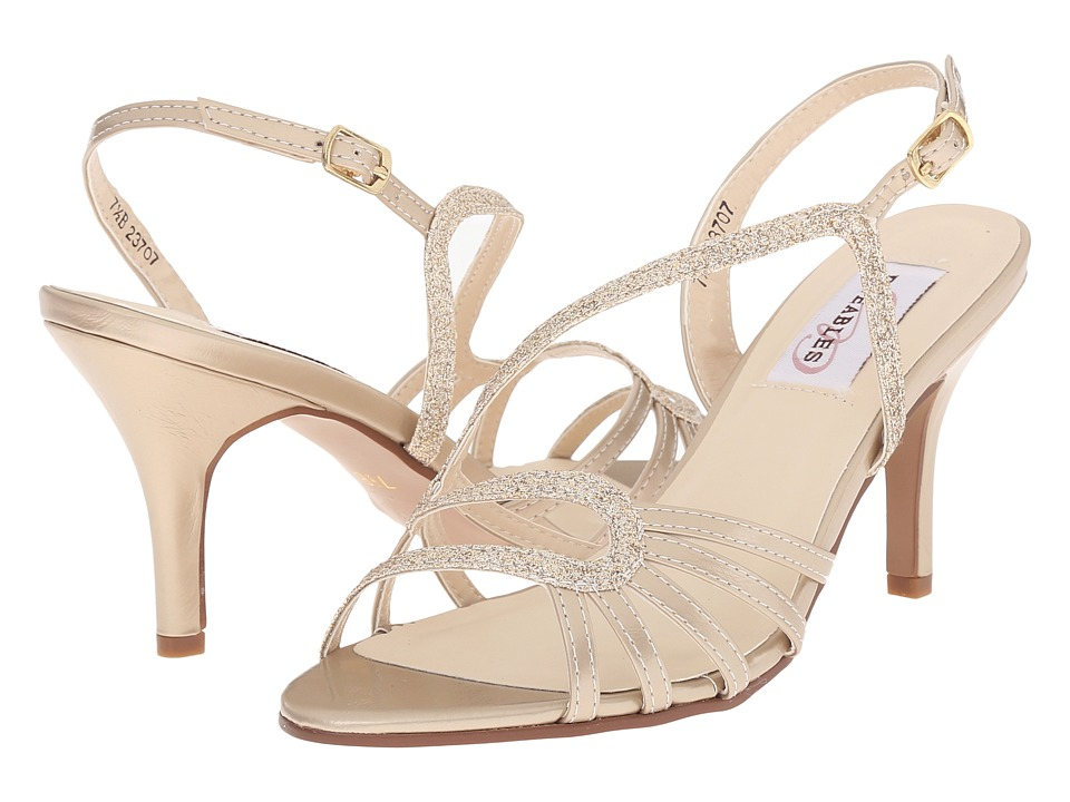 Touch Ups Caitlyn Champagne Glitter Womens Shoes