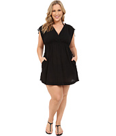LAUREN by Ralph Lauren - Plus Size Crushed Cotton Farrah Dress Cover-Up