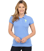U.S. POLO ASSN. - Neon Logos Short Sleeve Polo Shirt
