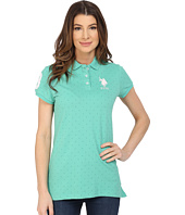 U.S. POLO ASSN. - Stretch Pique Dot Print Polo Shirt