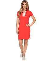 U.S. POLO ASSN. - Tie Front Pique Dress