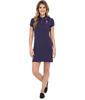 U.S. POLO ASSN. - All Over Polka Dot Pique Polo Dress