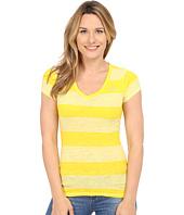 U.S. POLO ASSN. - Striped V-Neck Slub T-Shirt