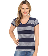 U.S. POLO ASSN. - Striped V-Neck Slub T-Shirt